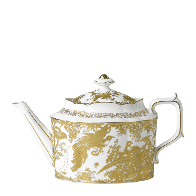 Teapot Large 128cl Aves Gold Tableware Homeware