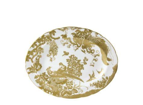 AVES GOLD - OVAL DISH SMALL (33cm )