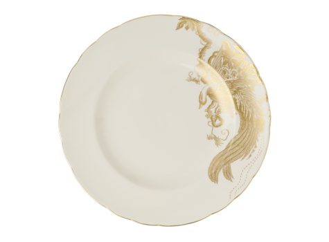 AVES GOLD MOTIF - PLATE (8.5IN/21.65CM)