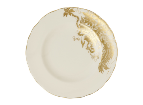 AVES GOLD MOTIF - PLATE (6.25IN/16CM)