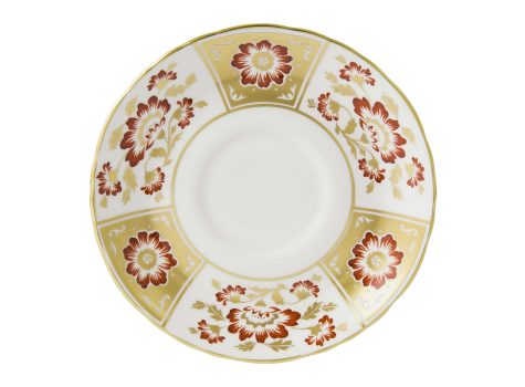 DERBY PANEL RED - CREAM SOUP SAUCER