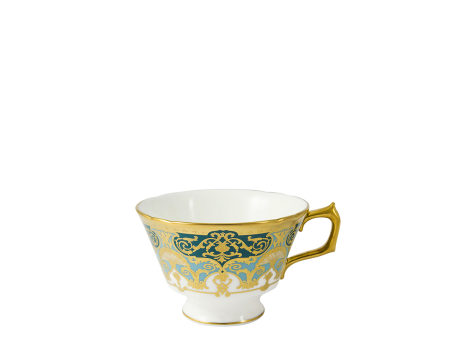 HERITAGE FOREST GREEN & TURQUOISE - TEA CUP
