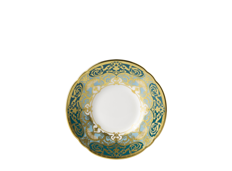 HERITAGE FOREST GREEN & TURQUOISE - COFFEE SAUCER