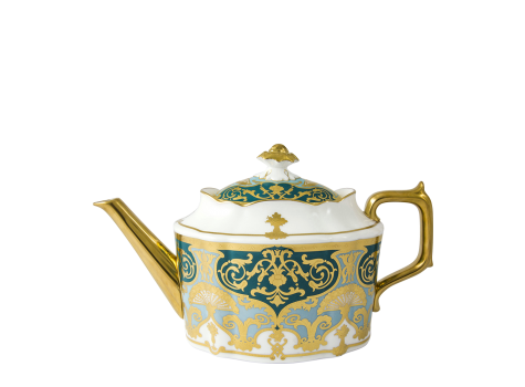 HERITAGE FOREST GREEN & TURQUOISE - TEAPOT (120cl )