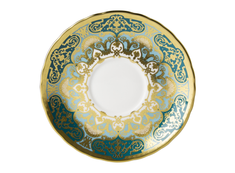 HERITAGE FOREST GREEN & TURQUOISE - CREAM SOUP SAUCER