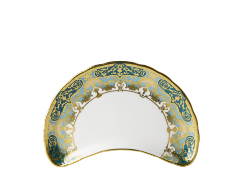 HERITAGE FOREST GREEN & TURQUOISE - CRESCENT SALAD PLATE