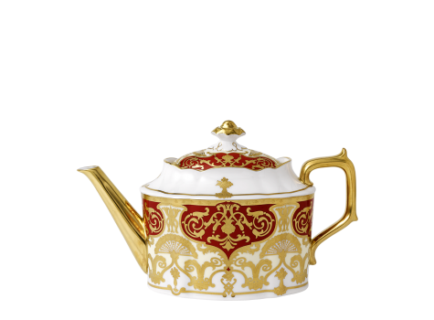 HERITAGE RED & CREAM - TEAPOT (120cl )