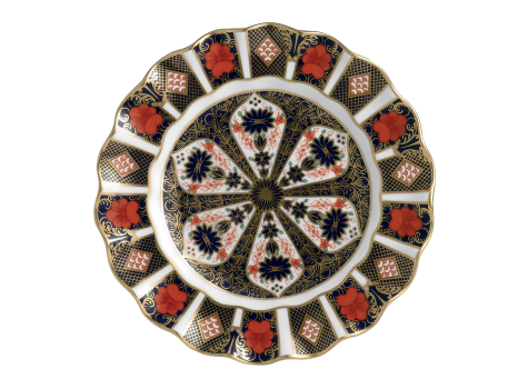OLD IMARI - FLUTED DESSERT PLATE - 22CM (BOXED)