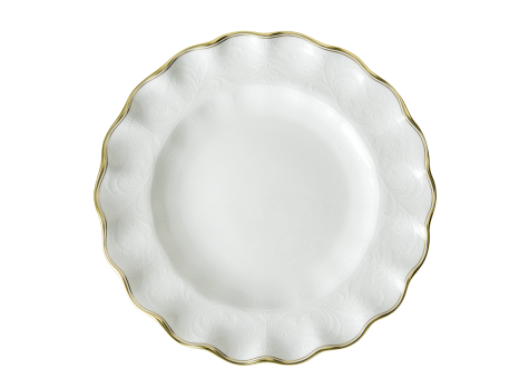 DARLEY ABBEY PURE GOLD - FLUTED DESSERT PLATE (22cm)