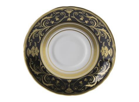 REGENCY BLACK - CREAM SOUP SAUCER