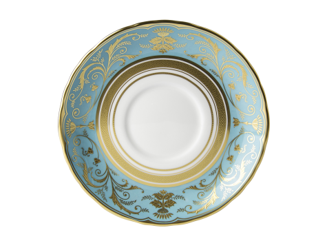 REGENCY TURQUOISE - CREAM SOUP SAUCER