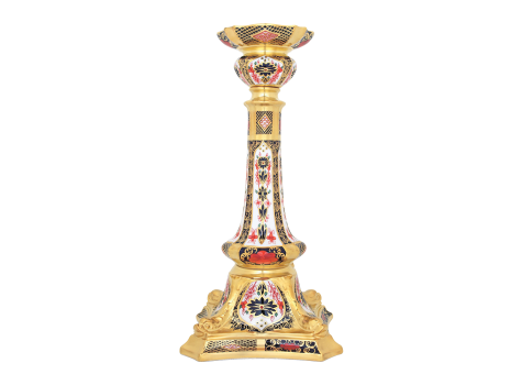 OLD IMARI SOLID GOLD BAND - CANDLESTICK L/S