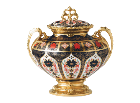 OLD IMARI SOLID GOLD BAND - LITHERLAND VASE