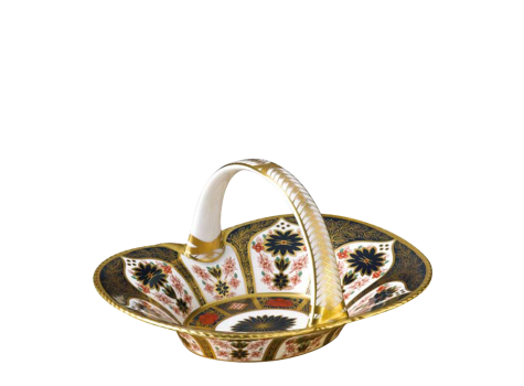 OLD IMARI SOLID GOLD BAND - HEATHER BASKET