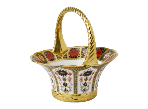 OLD IMARI SOLID GOLD BAND - FRUIT BASKET