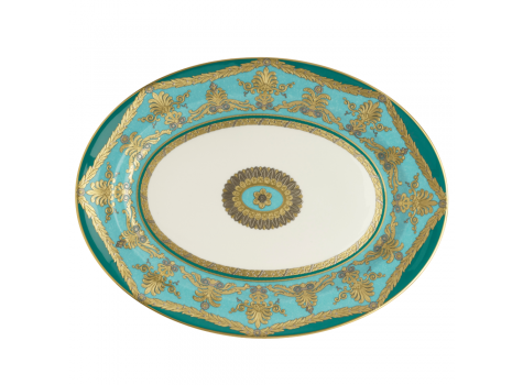 TURQUOISE PALACE -  34.5CM OVAL DISH
