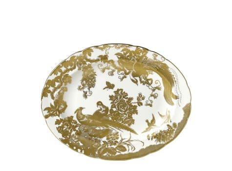 AVES GOLD - OVAL DISH LARGE (38cm)