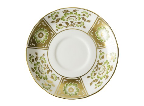 DERBY PANEL GREEN - CREAM SOUP SAUCER