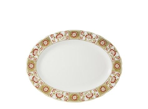 DERBY PANEL RED - OVAL DISH (41.75cm)