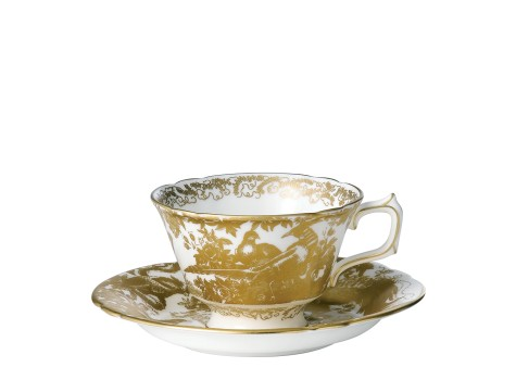 AVES GOLD - TEA CUP & SAUCER