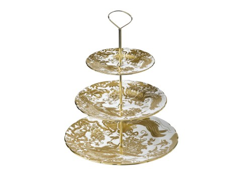 AVES GOLD - 3 TIERED CAKE STAND