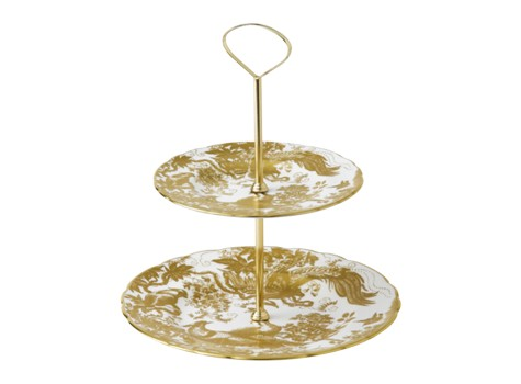 AVES GOLD - CAKE STAND - 2 TIER