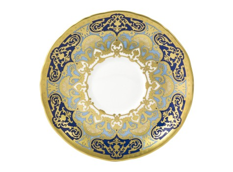 HERITAGE COBALT & DARK BLUE - CREAM SOUP SAUCER