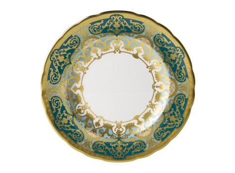 HERITAGE FOREST GREEN & TURQUOISE - PLATE (21.65cm )