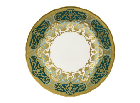 HERITAGE FOREST GREEN & TURQUOISE - PLATE (27cm )
