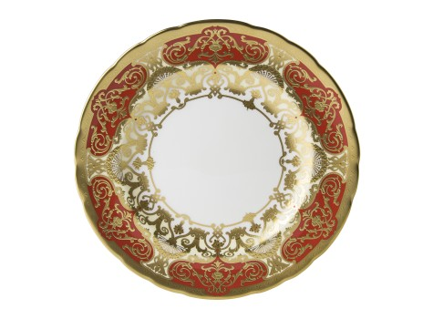 HERITAGE RED & CREAM - PLATE (21.65cm )