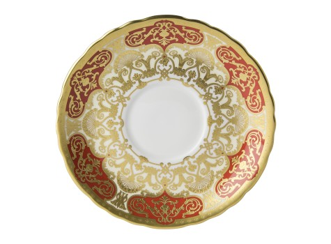 HERITAGE RED & CREAM - CREAM SOUP SAUCER