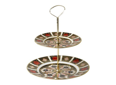 CAKE STAND - 2 TIER (BOXED)