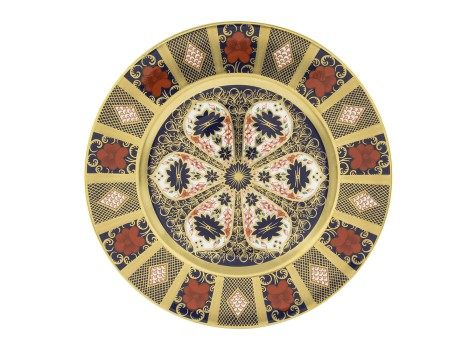 OLD IMARI SOLID GOLD BAND - PLATE (27cm )