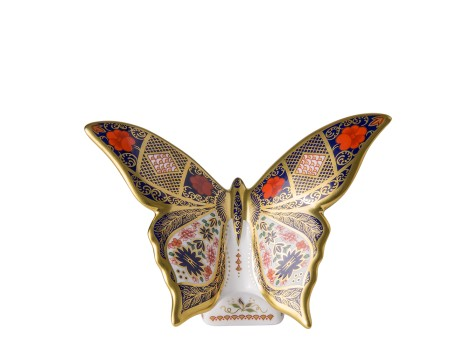 OLD IMARI SOLID GOLD BAND BUTTERFLY
