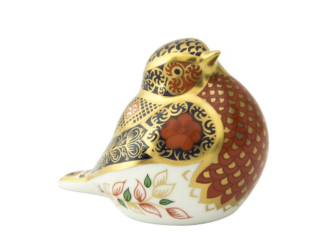 OLD IMARI SOLID GOLD BAND ROBIN