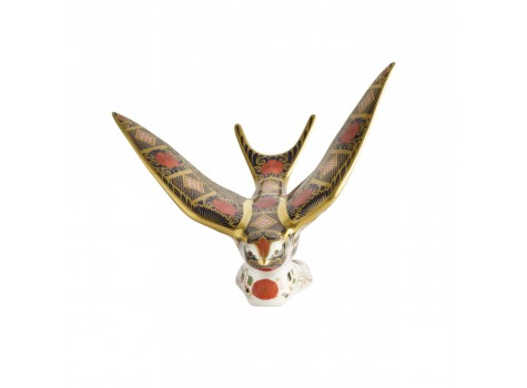 OLD IMARI SOLID GOLD BAND - SWALLOW