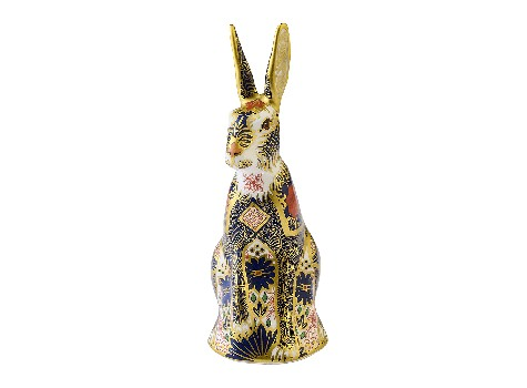 OLD IMARI SOLID GOLD BAND HARE