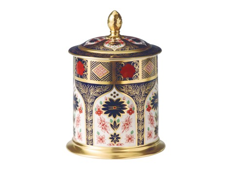 OLD IMARI SOLID GOLD BAND - STORAGE JAR (142cl)