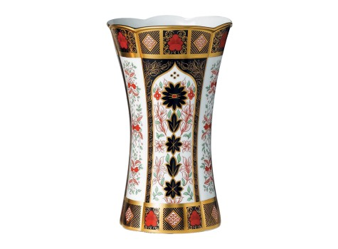 OLD IMARI SOLID GOLD BAND - COLUMN VASE LARGE