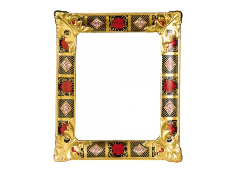 OLD IMARI SOLID GOLD BAND - PICTURE FRAME LARGE
