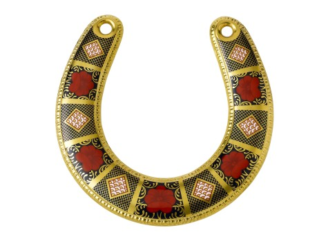 OLD IMARI SOLID GOLD BAND - HORSESHOE