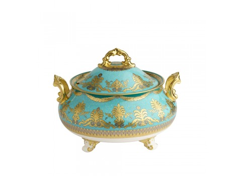 TURQUOISE PALACE -  COVERED VEGETABLE DISH