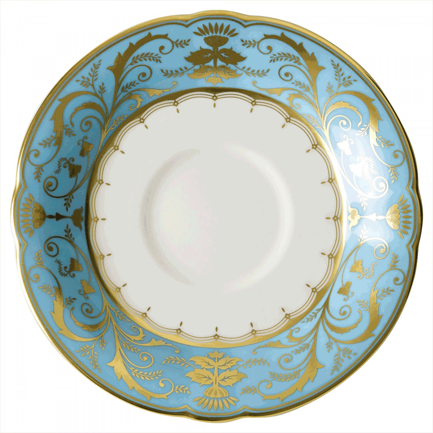 sc 1 st  Royal Crown Derby & HARLEQUIN DUCK EGG BLUE - TEA SAUCER