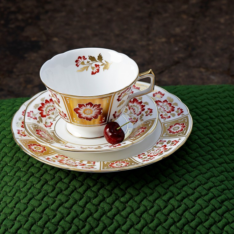 DERBY PANEL RED - TEA CUP
