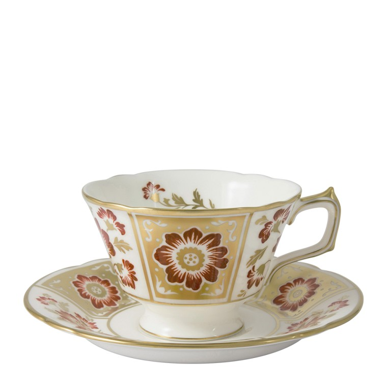 DERBY PANEL RED - TEA SAUCER