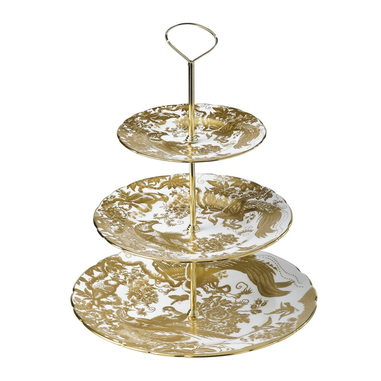 AVES GOLD - 3 TIER CAKE STAND