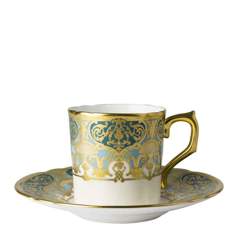 HERITAGE FOREST GREEN & TURQUOISE - COFFEE CUP