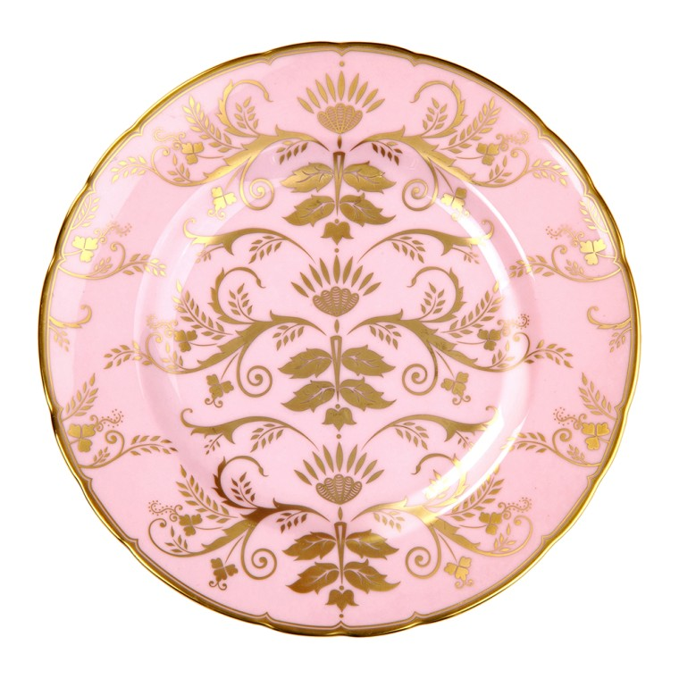 HARLEQUIN BABY PINK - PLATE (21.65cm )