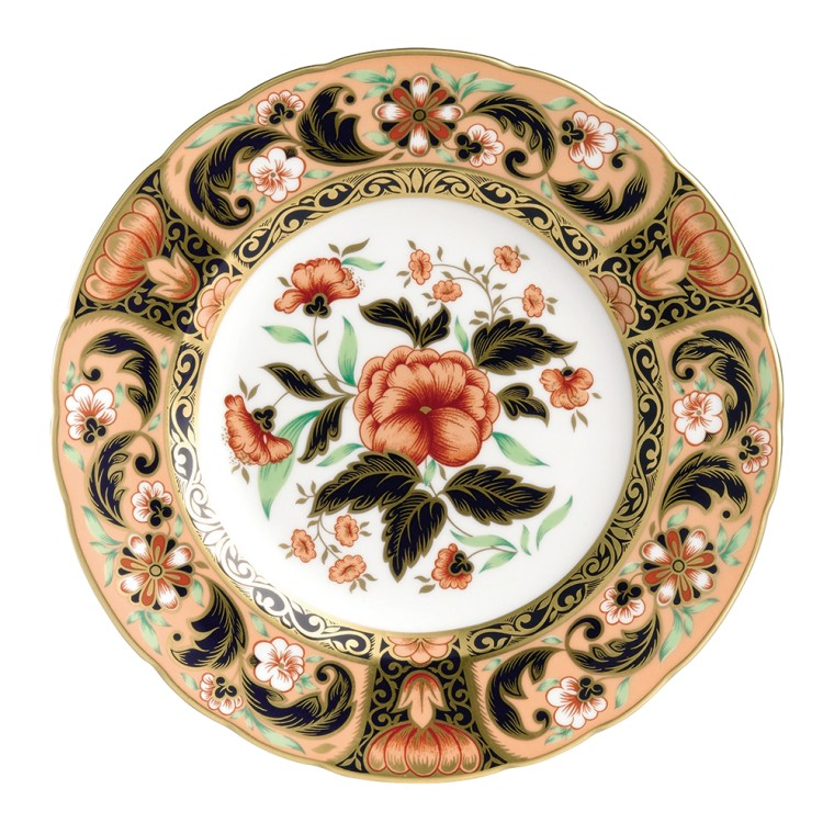 DERBY PINK CAMELLIAS PLATE (BOXED)