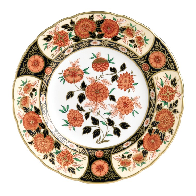 ANTIQUE CHRYSANTHEMUM PLATE (BOXED)